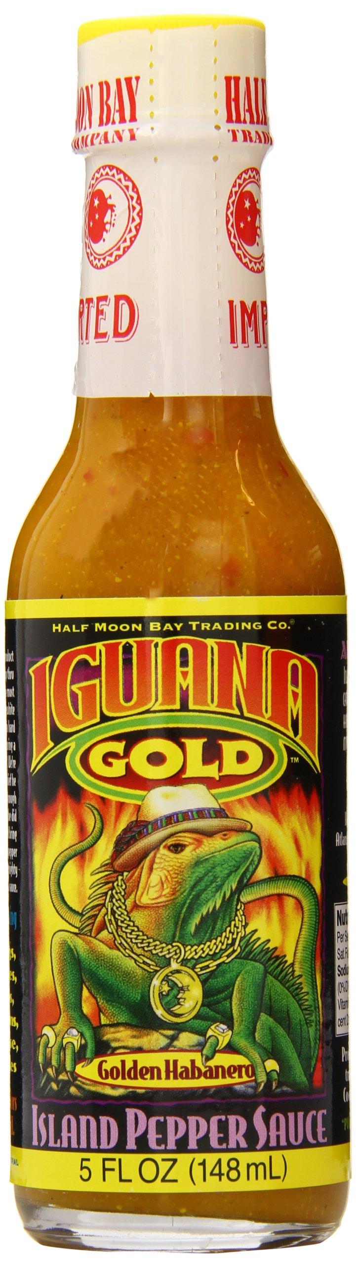 Iguana Gold Habanero Island Pepper Sauce, 5 Ounce