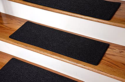 Dean Carpet Stair Treads 23u0026quot; X 8u0026quot;   Black   Set Of 13