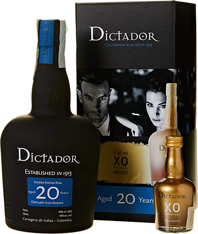 Dictador 20 Years Old Distillery Icon Reserve with XO Perpetual Miniature Rum - 1 Pack