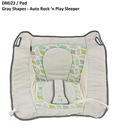 Fisher-Price Auto Rock N Play Sleeper Replacement Pad DMJ23 Gray Shapes