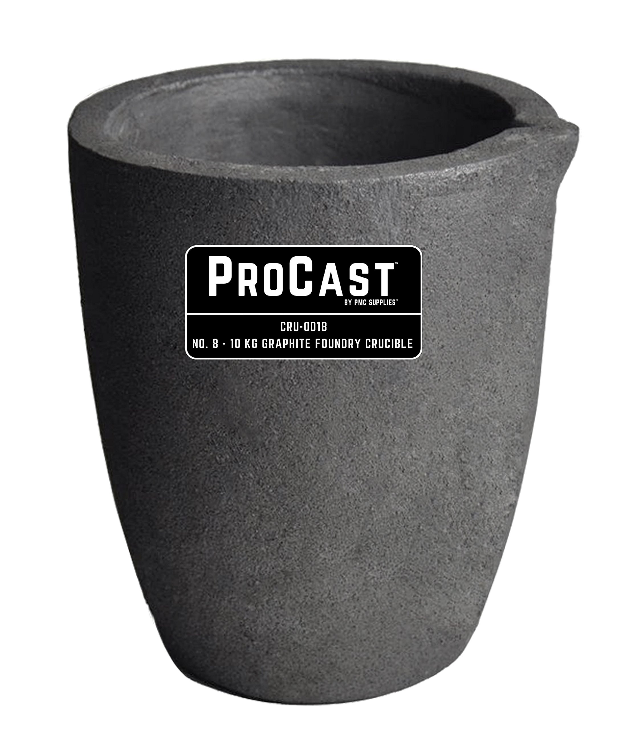 #8 10 Kg Foundry Clay Graphite Crucibles Cup Furnace Torch Melting Casting Refining Gold Silver Copper Brass Aluminum by PMC Supplies LLC