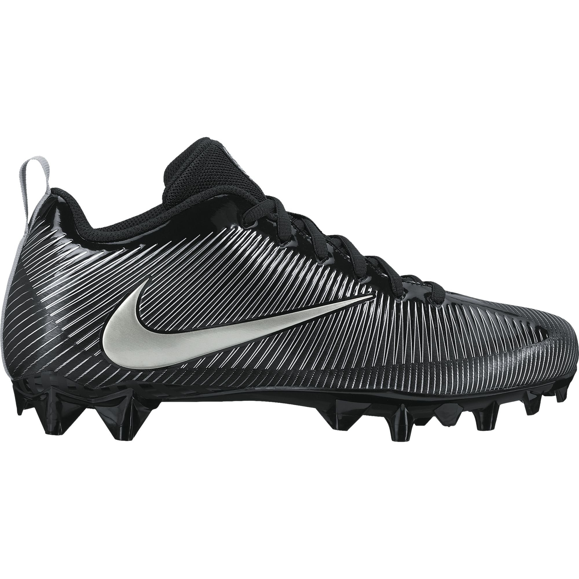 NIKE Men's Vapor Strike 5 TD Football Cleat Black/Metallic Silver Size 8 M US