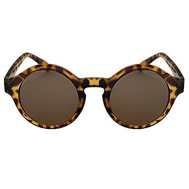 349ae98719 Image Unavailable. Anca Eyewear - ELLE - Womens Mens Unisex Round Retro  Tortoise Shell ...