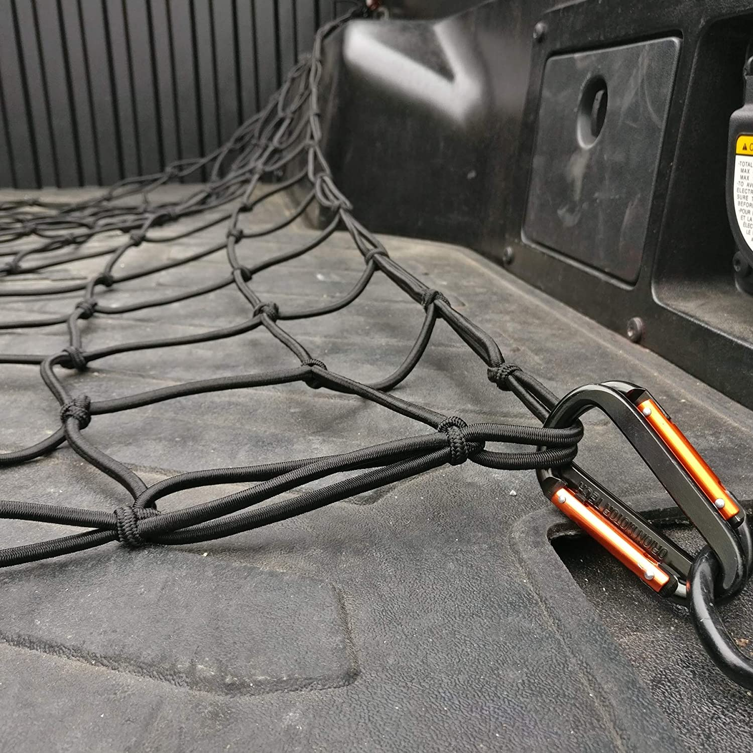 Orion Motor Tech 4 x 6 feet Stretches to 8 x12 feet Trailer Cargo Net Truck Bed with 16pcs Aluminium Hooks Latex Bungee Cords 4 x4 inches Small Mesh 1//5 inches Dia