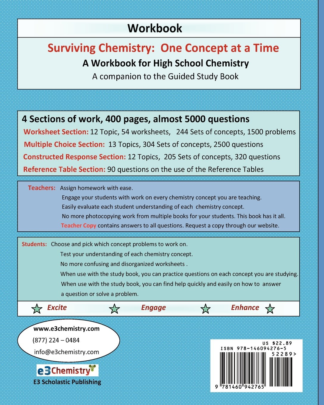 Amazon.com: Surviving Chemistry One Concept at a Time: Workbook: A ...