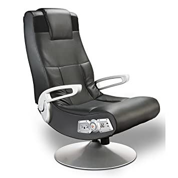 Michael Anthony Furniture X Pedestal Black Pro Series Control Panel Gamers  Chair