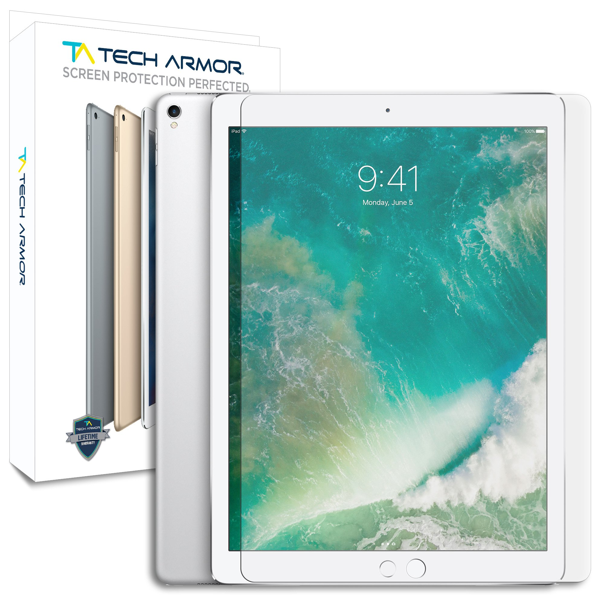 Tech Armor Ballistic Glass Screen Protector for Apple iPad Pro 12.9-inch (NEW 2017) [1-pack]