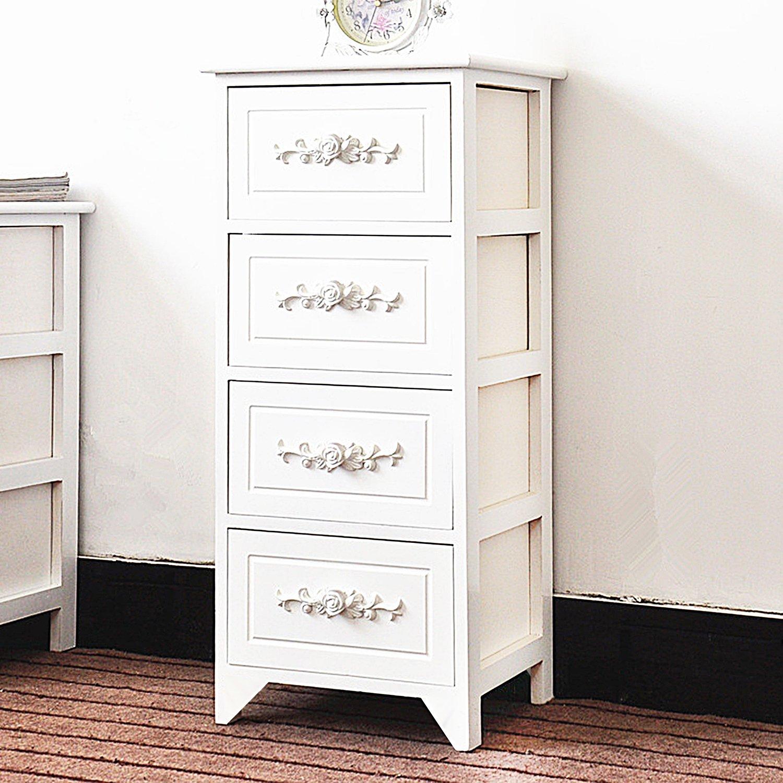 DL furniture - Fully Assembled Tone Finish Night Stand 2 Drawer Storage Shelf Organizer   White