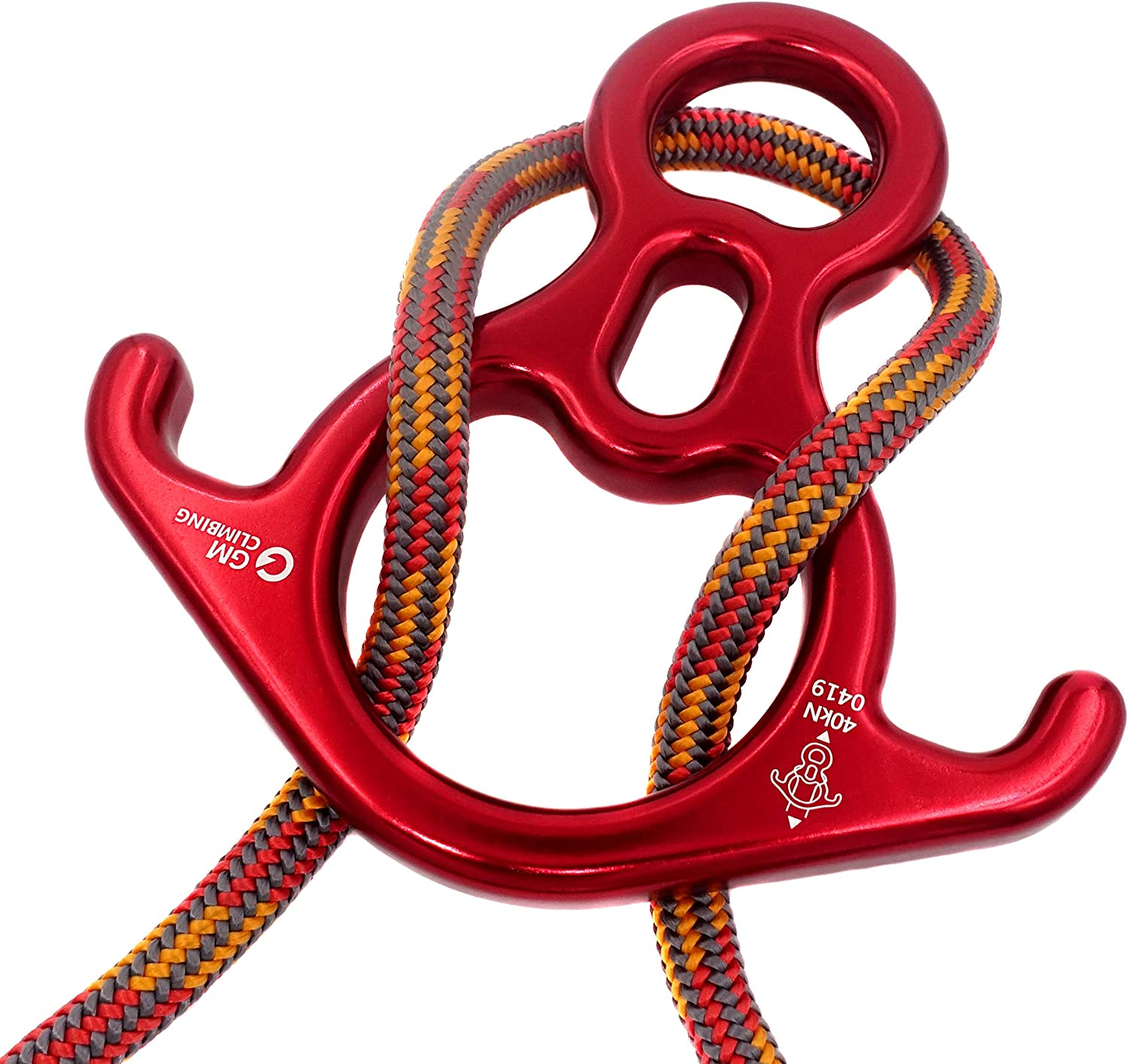 GM CLIMBING 40kN Rescue Figure 8 Descender with Bent-Ear Rappelling Gear Belay Device : Sports & Outdoors