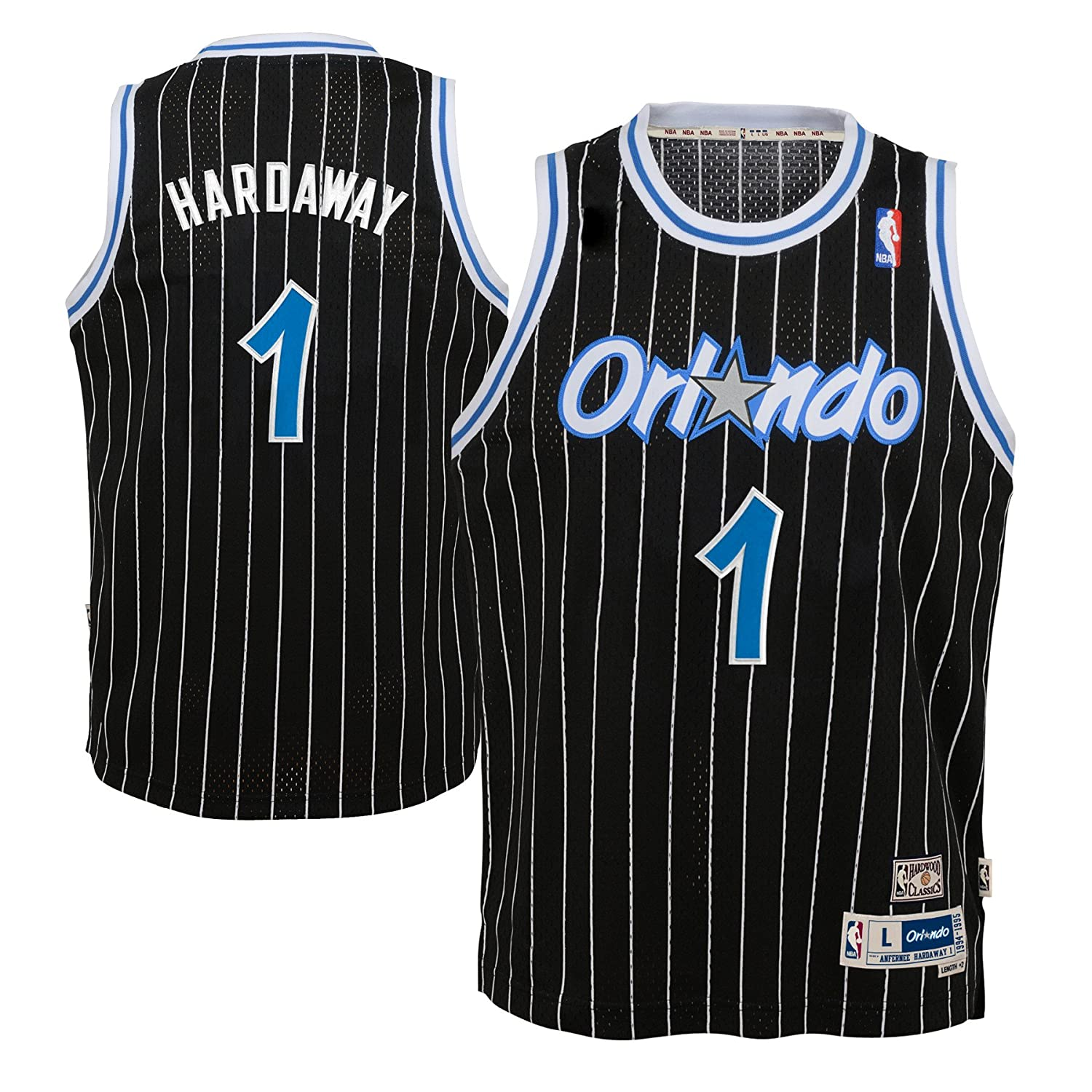 Amazon.com   Outerstuff Anfernee Hardaway Orlando Magic NBA Youth Throwback Swingman  Jersey - Black   Sports   Outdoors 69208ab5a
