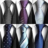 AVANTMEN 6 PCS Classic Men's Neckties Woven Jacquard Neck Ties Set