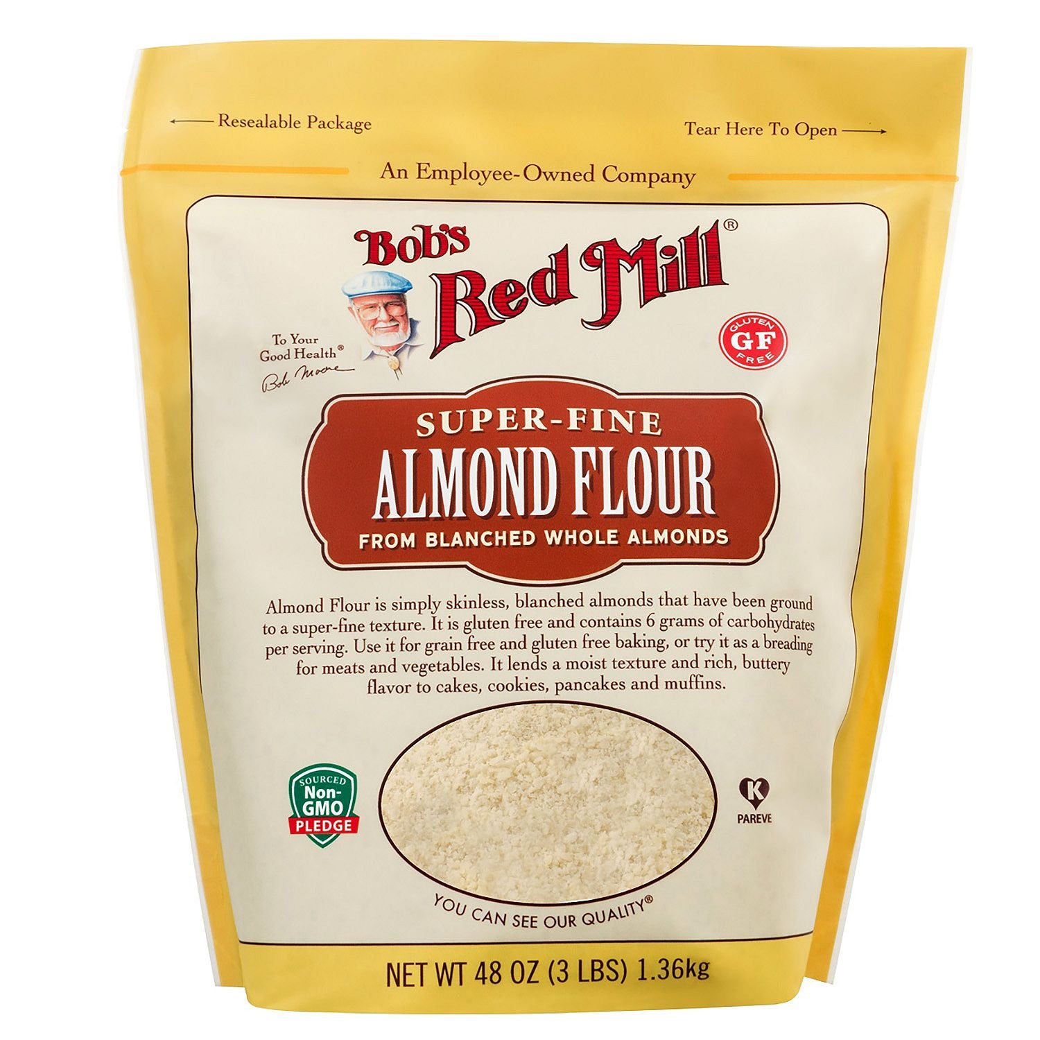 Bob's Red Mill Almond Flour 3 lbs (Pack of 3) by Bob's Red Mill (Image #1)