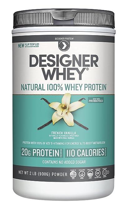 Designer Whey Premium Natural 100% Whey Protein, French Vanilla, 2 Pound