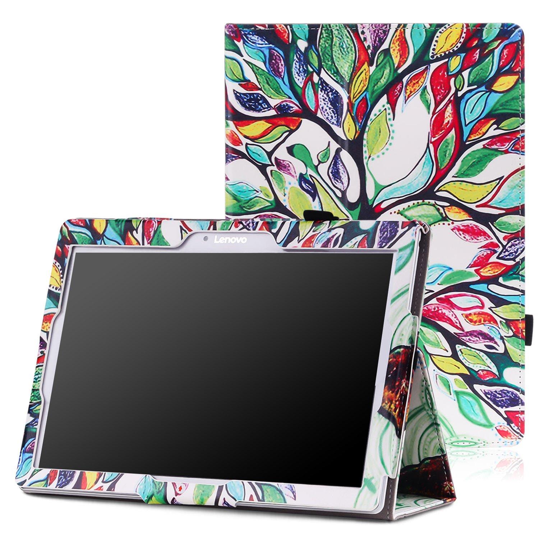 Lenovo Tab 2 A10 / TAB-X103F Tab 10 Case - MoKo Slim Folding Cover Smart Case for Lenovo Tab2 A10-70 / TAB-X103F Tab 10 / Tab3 10 Business Tablet, Lucky Tree