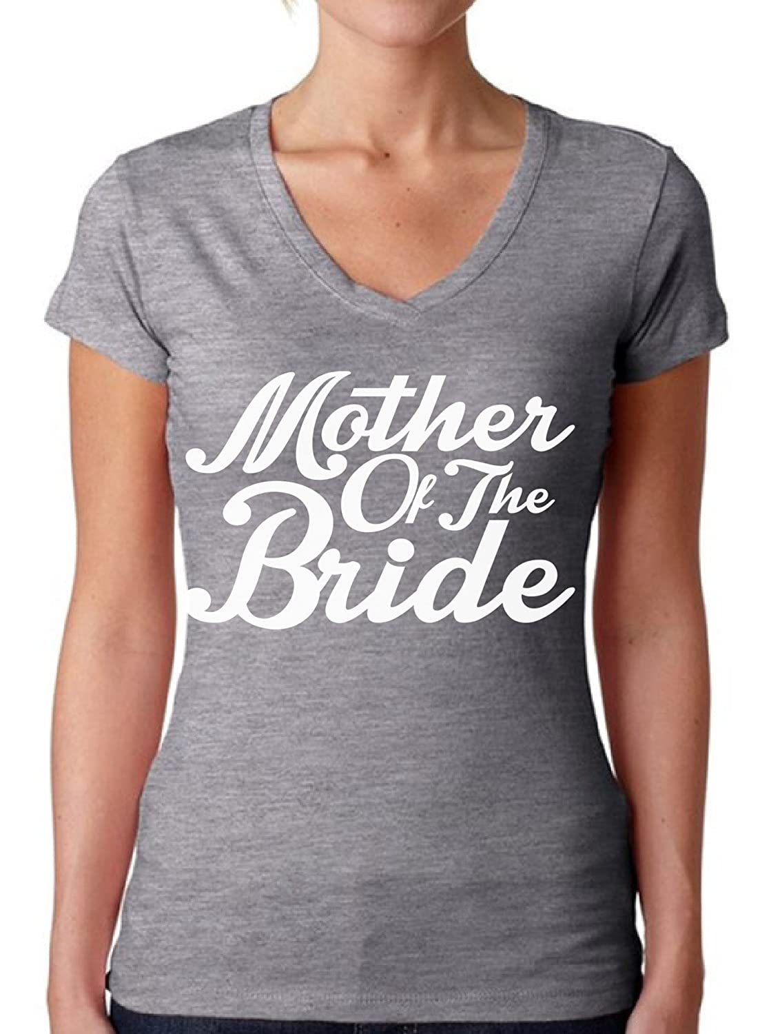 Awkwardstyles Women's Mother of The Bride V-Neck T-Shirt W Tee Shirt + Bookmark-ANZ