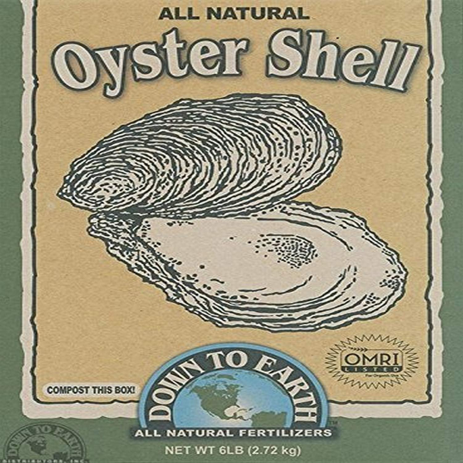 Amazon Com Down To Earth 6 Pound Oyster Shell Flour