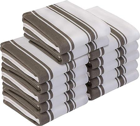 Utopia Towels - Paño de Cocina (12 Piezas) Lavable a máquina de algodón Cocina Blanca Paños de Cocina Toallas de té Toallas (38 x 64 cm) (Gris): Amazon.es: Hogar
