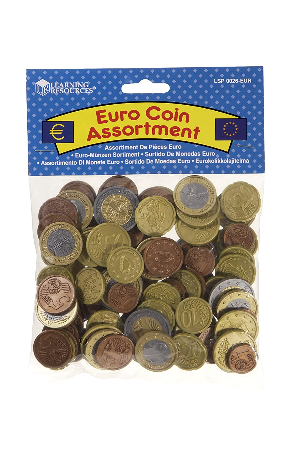 Learning Resources Set monedas Euro surtido: modelos aleatorios