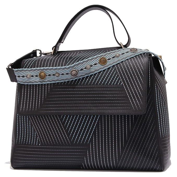outlet b46d3 d8bb0 Orciani 3116Z borsa donna STITCH BIG leather black bag woman ...