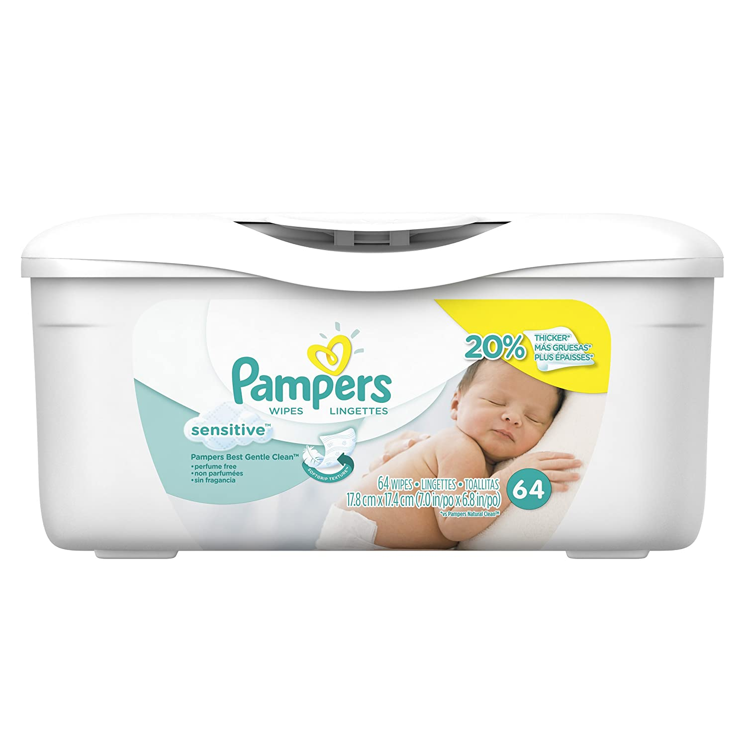 Pampers Sensitive Water Baby Wipes Tub, 64 Count thomaswi