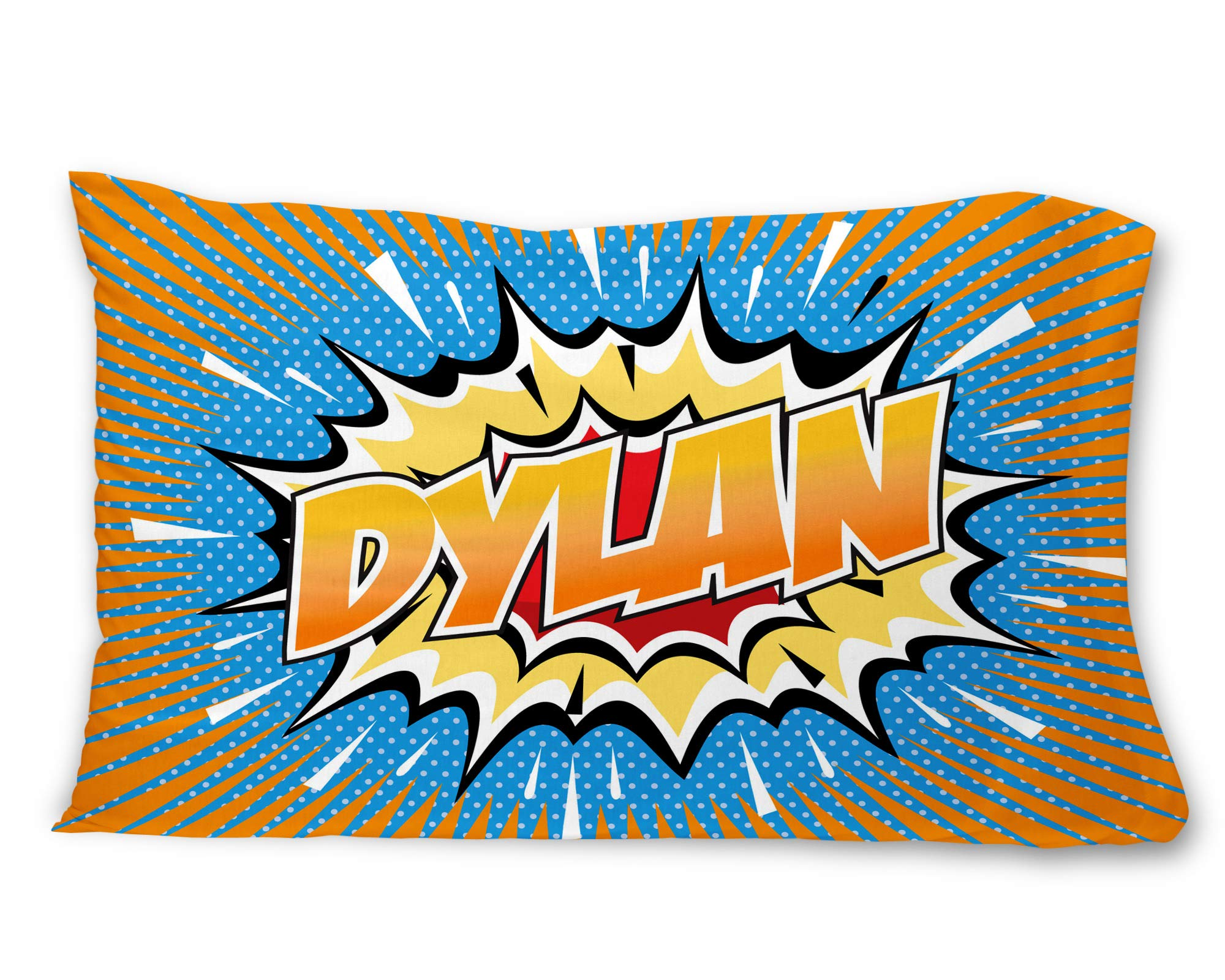 BadBananas Comic Book Style - Kids Custom, Personalized (Customized) Microfiber Pillowcase Gift for Boys (Pillow Cover, Sham) by Bad Bananas