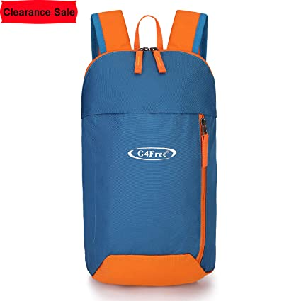 a3153d697ae G4Free Outdoor Small Mini Backpack Daypack Bookbags 10L for Kids   Adults(Blue  Orange)