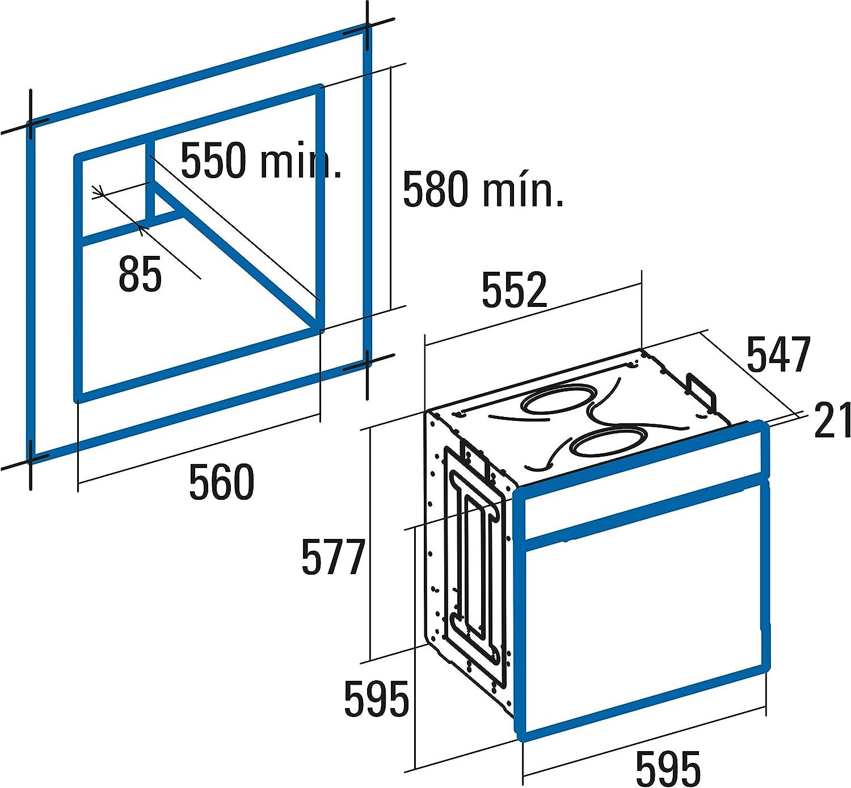 CATA | Horno Multifunción Digital - 6 funciones | Horno Modelo MD 6106 X | Capacidad Interior de 60 litros | Limpieza AquaSmart | Inox | Clasificación energética A: 203.86: Amazon.es: Grandes electrodomésticos