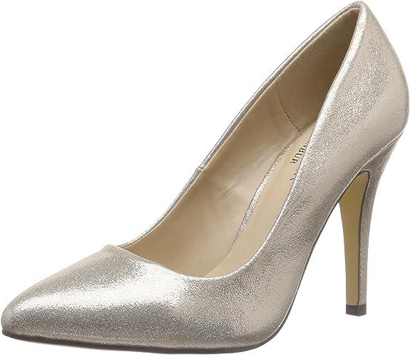 TALLA 36 EU. Paco Mena Acebo, Zapatos de tacón con Punta Cerrada para Mujer