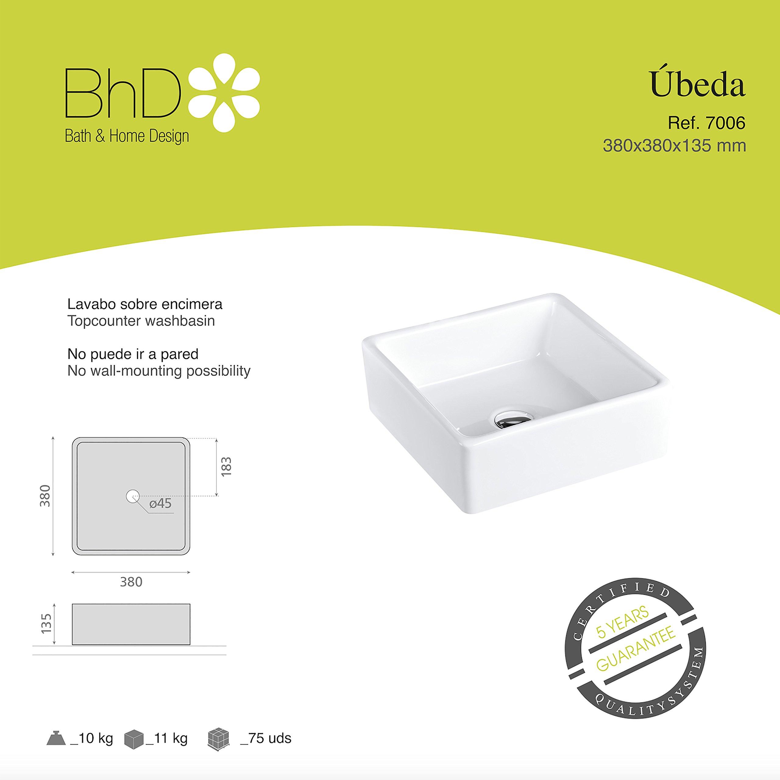 BHD 7006–Ceramic Sink, White