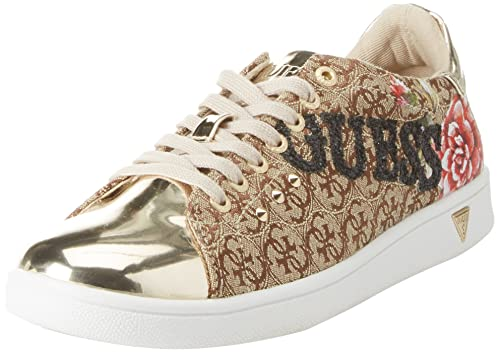 Guess Footwear Active Lady, Zapatillas para Mujer, Multicolor (Beige/Light Brown Beibr), 40 EU