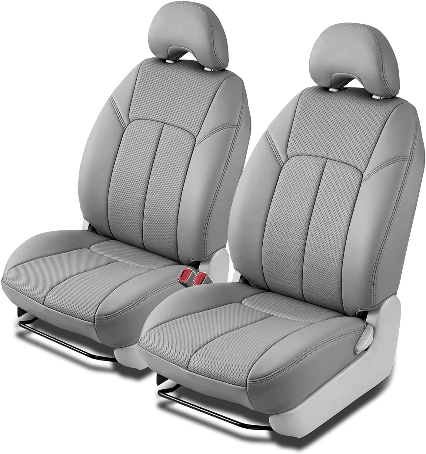 Clazzio 722821gry Grey Leather Front Row Seat Cover for Ford F150 Super Cab
