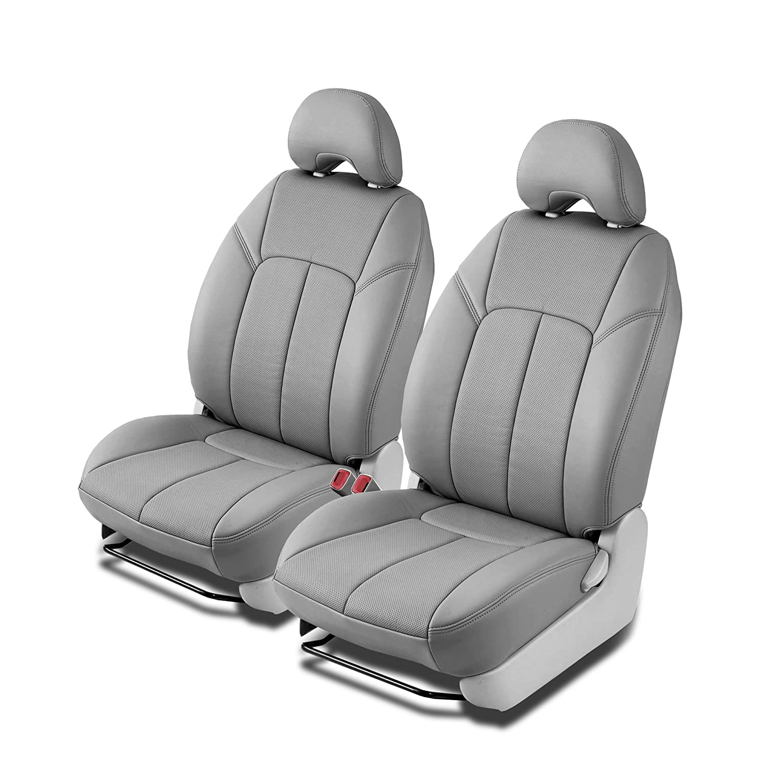 Clazzio 230541lgyy Light Grey Leather Front Row Seat Cover for Toyota Prius V
