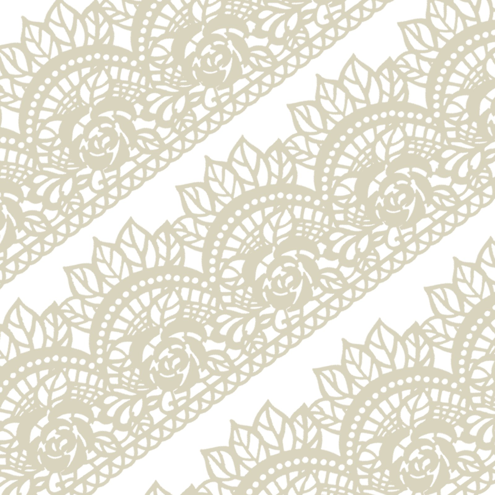Funshowcase Large Pre-Made Ready to Use Edible Cake Lace Rose Scallop Ivory White 14-inch 10-piece Set