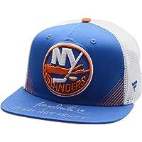 "$69 » Bryan Trottier New York Islanders Autographed Blue Fanatics Snapback Cap with""18 NHL Hat Tricks"" Inscription - Limited Edition of 19…"
