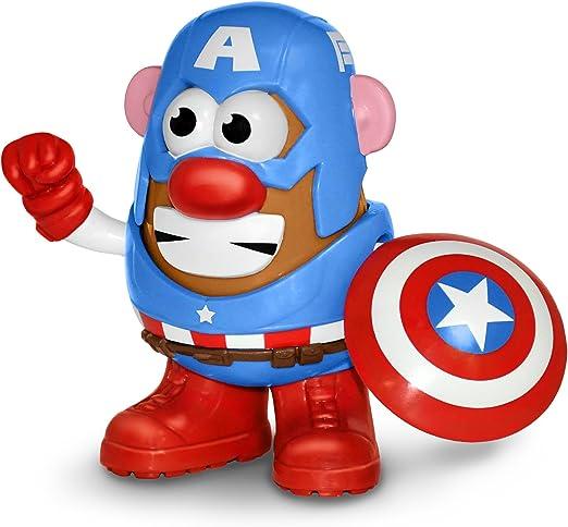 Mr Potato Head Marvel Captain America Figura de Acción: Amazon.es ...