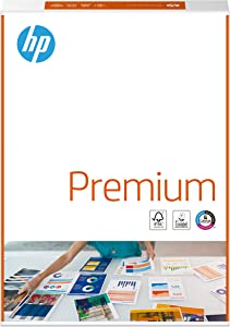HP Printer Paper, Premium A4 Paper, 210x297mm, 80gsm, 1 Ream, 500 Sheets - FSC Certified Copy Paper