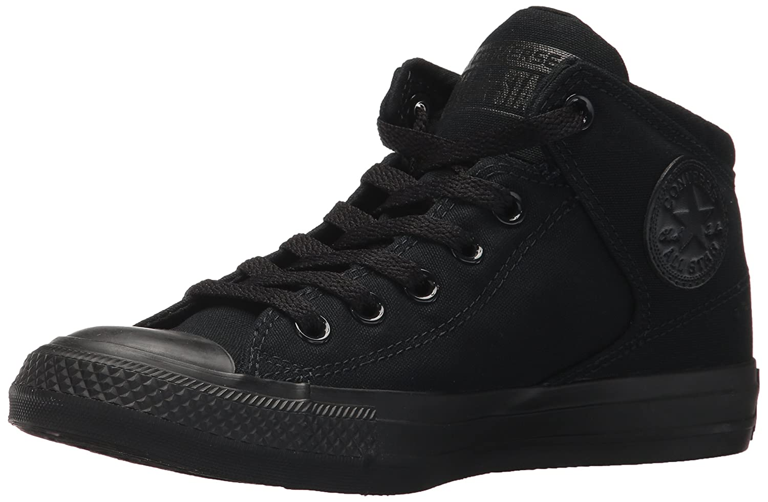 Converse Men's Street Tonal Canvas High Top Sneaker B00QXU3RQ0 7 D(M) US|Black/Black/Black