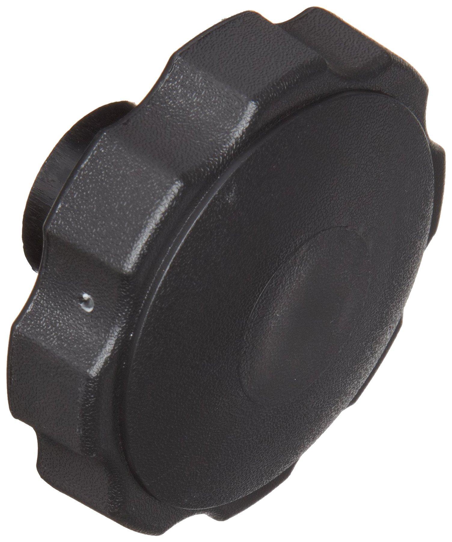 DimcoGray Black Thermoplastic Fluted Torque Knob Female, Brass Insert: 3/8-16 Thread x 5/8'' Depth, 2-3/8'' Diameter x 1-5/16'' Height x 1-1/4'' Hub Dia x 5/8'' Hub Length (Pack of 10)
