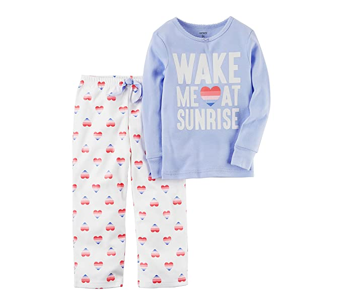 bd16127c4 Amazon.com  Carter s Girls  12M-14 2 Piece Wake Me at Sunrise Pajama ...