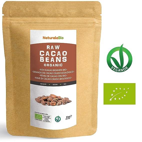 Granos de Cacao Crudo Ecológico 1Kg | 100% Bio, Natural y Puro | Cultivado en ...