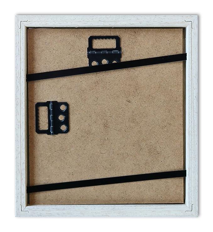6131294fb7 Pared Style Marco para Polaroid de imágenes Serie A850 Color Blanco, veteada  Normal Cristal Incluye paspartú Negro para 1 Polaroid: Amazon.es: Hogar