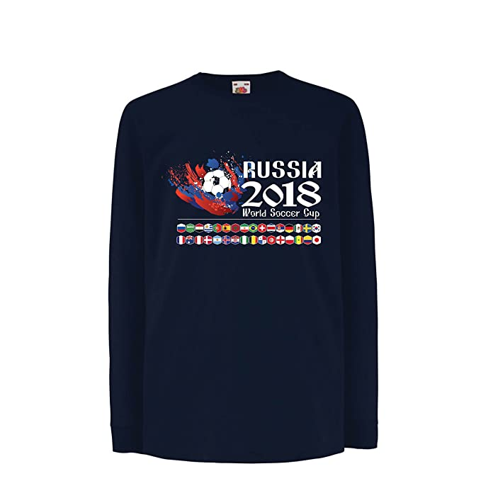 lepni.me Camiseta para Niño/Niña Copa Mundial de Rusia 2018, Las 32 Banderas Nacionales del Equipo de Fútbol: Amazon.es: Ropa y accesorios