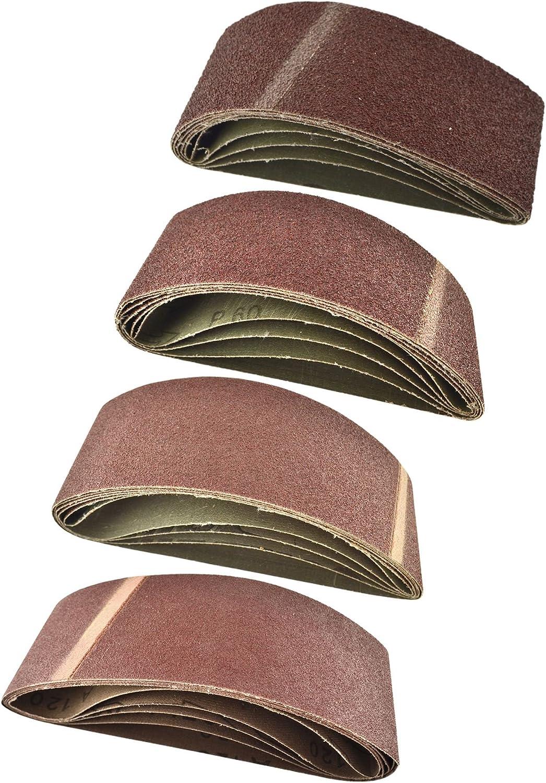 Sanding Belts 80 Grit Medium Electric Sander 65mm x 410mm x 10 Each