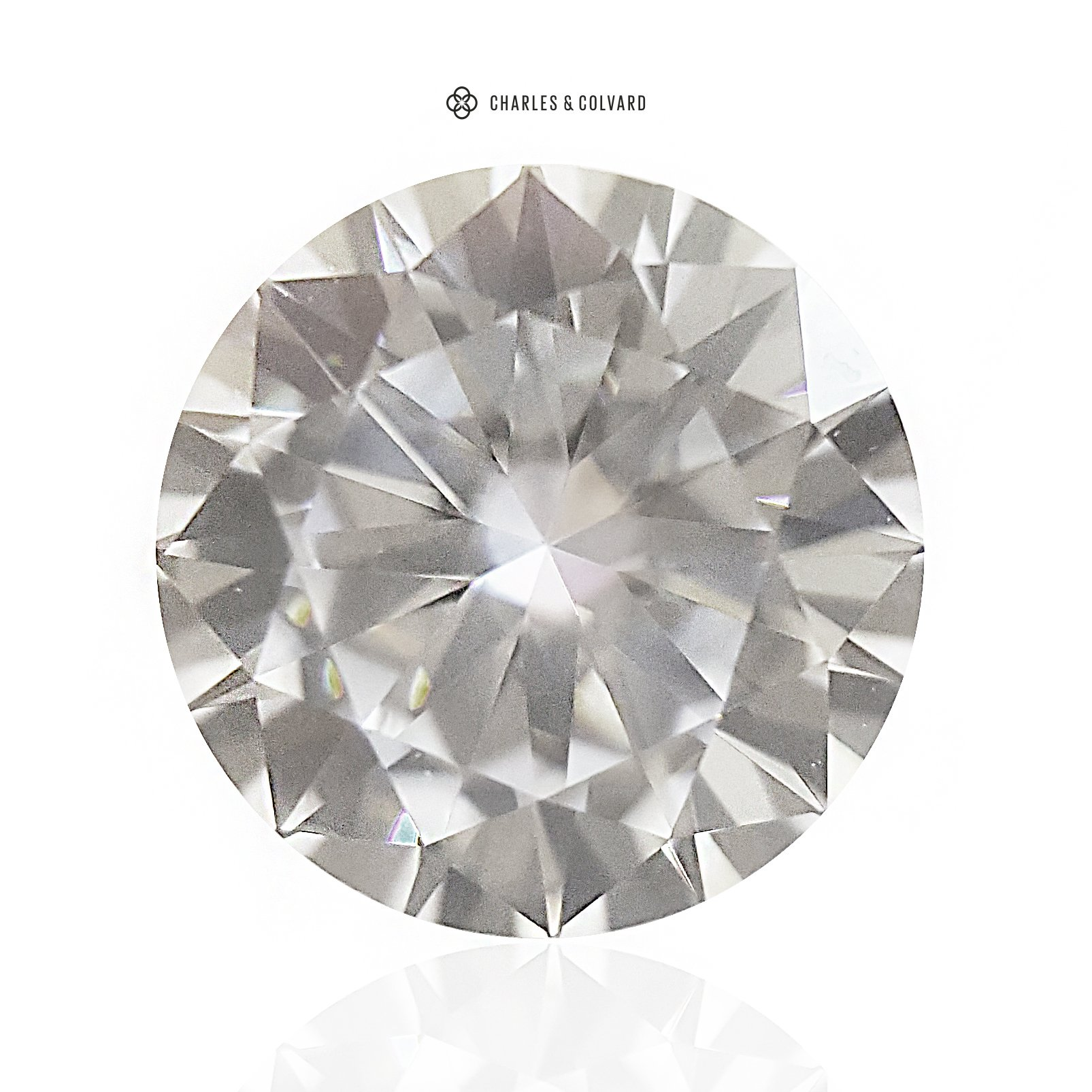 8.5MM Moissanite Forever One Round Brilliant Cut Loose by Charles & Colvard