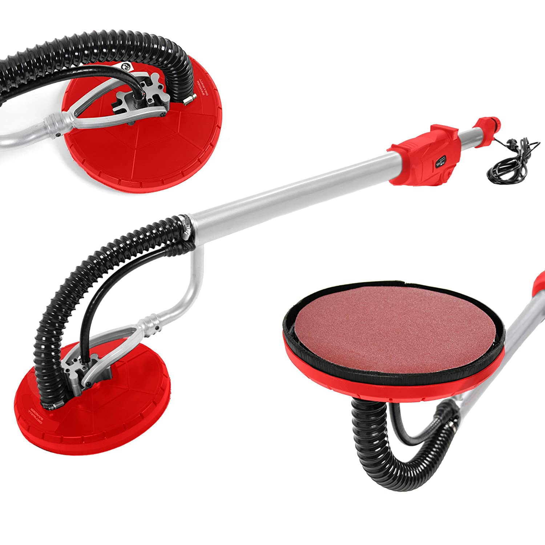 Arebos Ponceuse Girafe rouge (710 W, Diamè tre des disques de abrasif : 225 mm, 6 Disque abrasifs, Longeur de 160 cm) Diamètre des disques de abrasif : 225 mm Canbolat Vertriebs GmbH
