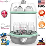 Trumom USA Electric Steam Sterilizer For Feeding (6 Bottles) And Baby Food Steamer