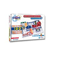 Snap Circuits Jr. Plus SC-110 Electronics Exploration Kit | Over 110 STEM Projects | Full Color Project Manual | 30 Parts | STEM Educational Toy for Kids 8+