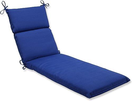 Pillow Perfect Outdoor Indoor Veranda Cobalt Chaise Lounge Cushion, 72.5 x 21 , Blue