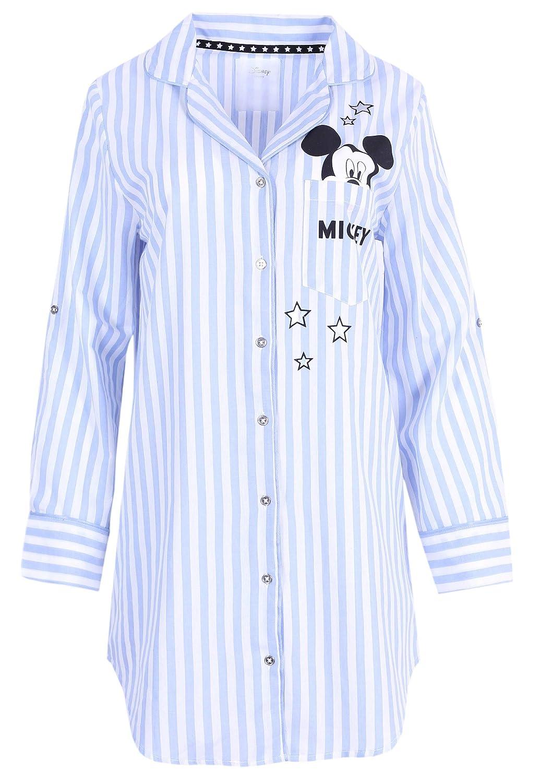 Camicia da Notte a Righe Bianche e Azzurre Mickey Disney