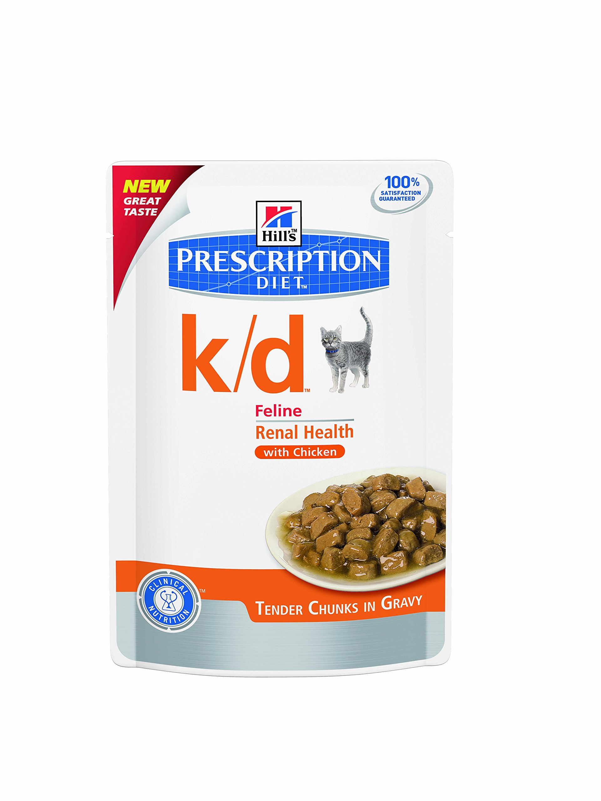 Hill's Prescr Diet Feline k/d Chicken 12 x 85 g pouches